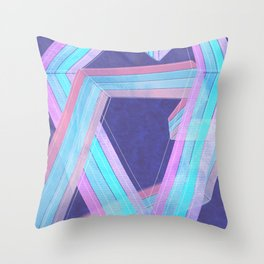 Vintage Hearts Throw Pillow