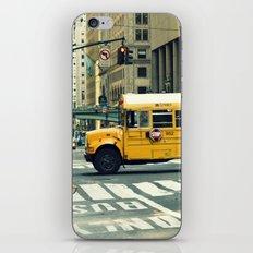 New York school bus iPhone Skin