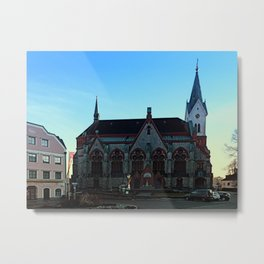 The village church of Aigen I | architectural photography Metal Print