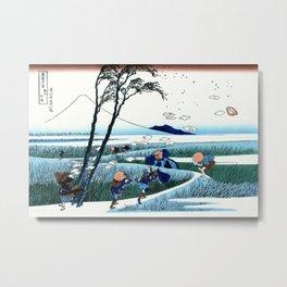 """Hokusai """"Ejiri in the Suruga province"""" Metal Print"""