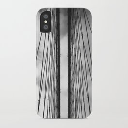 New York - Brooklyn Bridge, Black and White iPhone Case