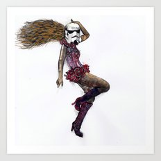 Stormtrooper girl Art Print