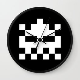White Invader Wall Clock