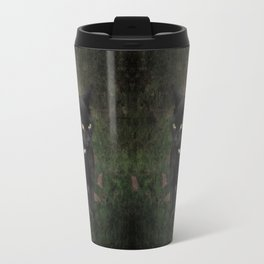 Black Halloween cat Travel Mug