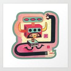 Sorcier mécanique Art Print