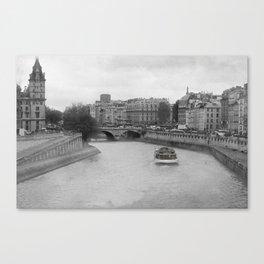 Les Bateaux Mouches Canvas Print