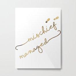 Mischief Managed (white) Metal Print