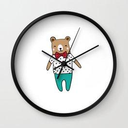 Cute little bear Wall Clock