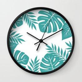 Paradise in Aqua Wall Clock
