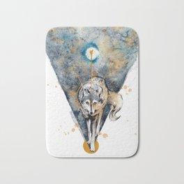 Lunar Wolf Bath Mat