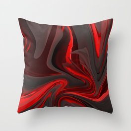 Red Flow Throw Pillow