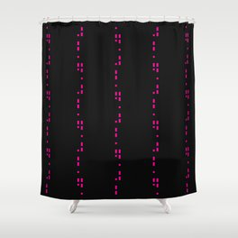 Licorice Bytes, No.13 in Black and Pink Shower Curtain