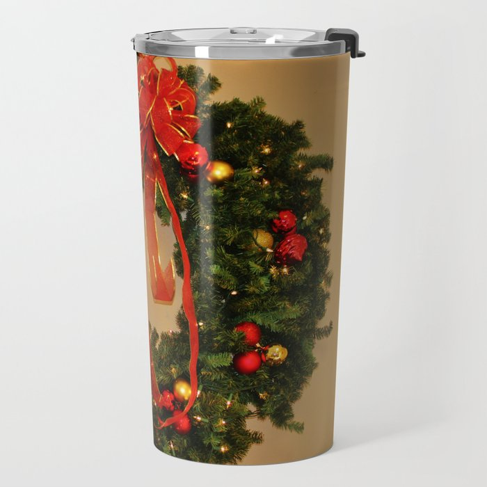 Holiday Wreath Travel Mug