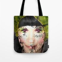 depression Tote Bags featuring Depression by Amber Dawn Hilton