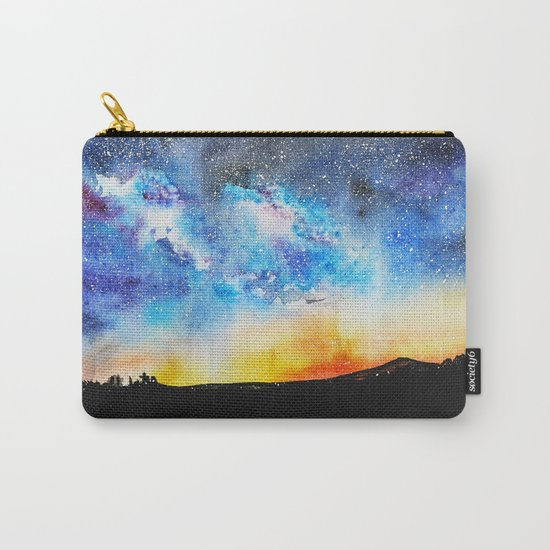 When night is falling || watercolor Carry-All Pouch
