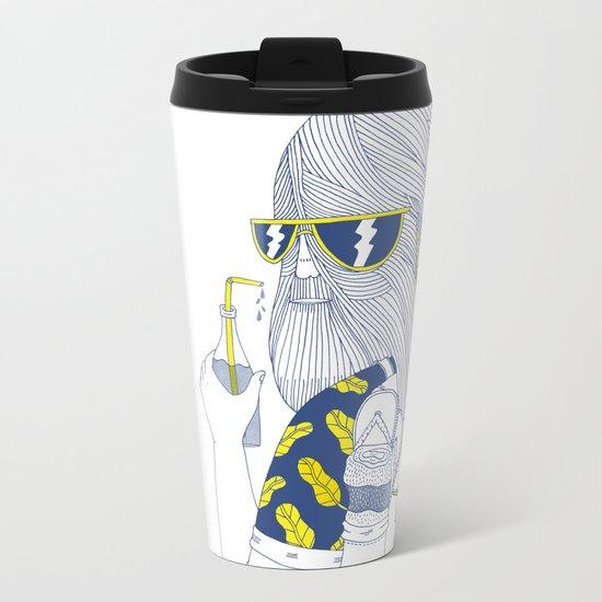 Summer Monster Metal Travel Mug