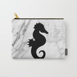 Marble seahorse Carry-All Pouch