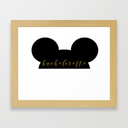 Mouse Ears Bachelorette Framed Art Print