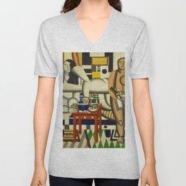 Three Women by Fernand Léger Unisex V-Neck