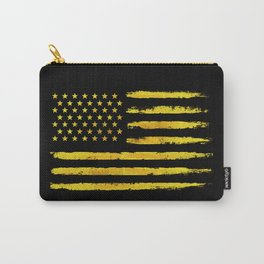Gold grunge american flag Carry-All Pouch