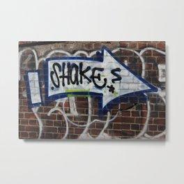 Shakes Graffiti Footscray Metal Print