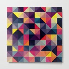 Colored Squares Metal Print