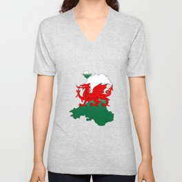 Wales and the Dragon Unisex V-Neck