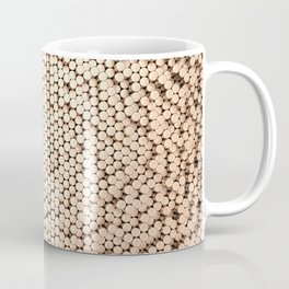 Pattern of brushed copper cylinders Coffee Mug