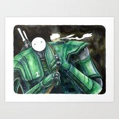 Moonbot #2: Green Art Print