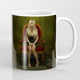 Dark wonderland Alice on a red chair Coffee Mug