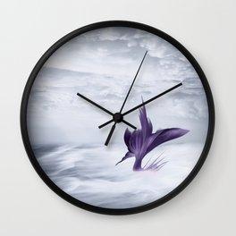 Mermaid Fantasy Ocean Seascape - Purple Mermaids Wall Clock