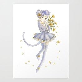 Diana´s human form Sailormoon fanart Art Print