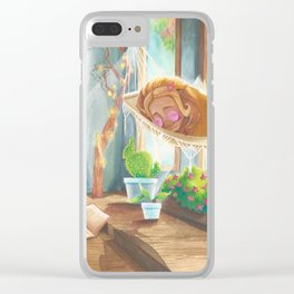Sleeping in the Sunshine Clear iPhone Case