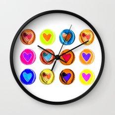 Hearts Wall Clock