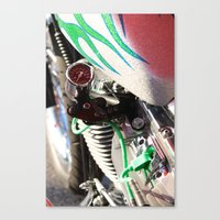motorcycle Canvas Prints featuring Motorcycle by Carlo Toffolo
