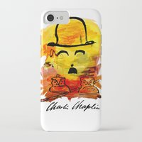 charlie chaplin iPhone & iPod Cases featuring Charlie Chaplin by Genco Demirer