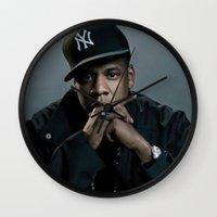 jay z Wall Clocks featuring Jay-Z by I Love Decor