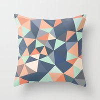 southwest Throw Pillows featuring Southwest Tris by Beth Thompson