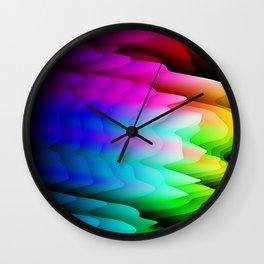 Fingerling Clouds: Elegant Fractal Art Design Wall Clock