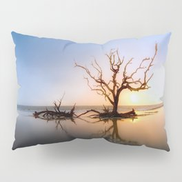 Driftwood Reflection Along the Waters Edge on Jekyll Island Beach Pillow Sham