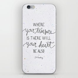 Where your treasure is, there will your heart be also iPhone Skin