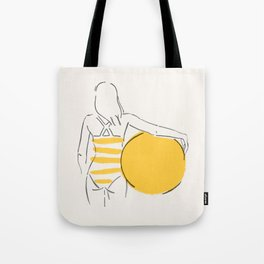 Summer ready - line drawing Tote Bag