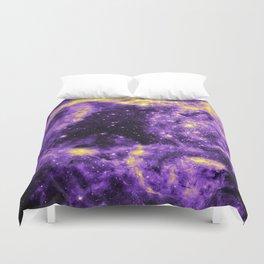 Nonbinary Pride Glittering Galaxy Duvet Cover