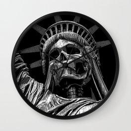 Liberty or Death B&W Wall Clock