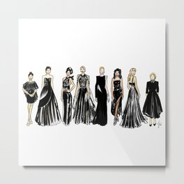 Golden Globes Glam Metal Print