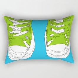 Cons. Art Print. Trainers. Sneakers. Converse All Star. Boys Art. Rectangular Pillow