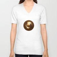 china V-neck T-shirts featuring China by Anastassia Elias
