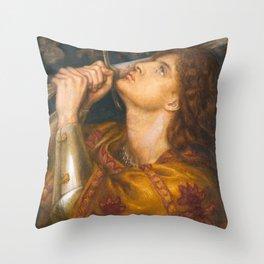 Joan of Arc by Dante Gabriel Rossetti, 1864 Throw Pillow