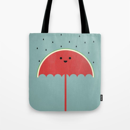 Watermelon Umbrella Tote Bag