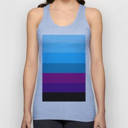 Northern Deep Blue Sky - Abstract Unisex Tank Top